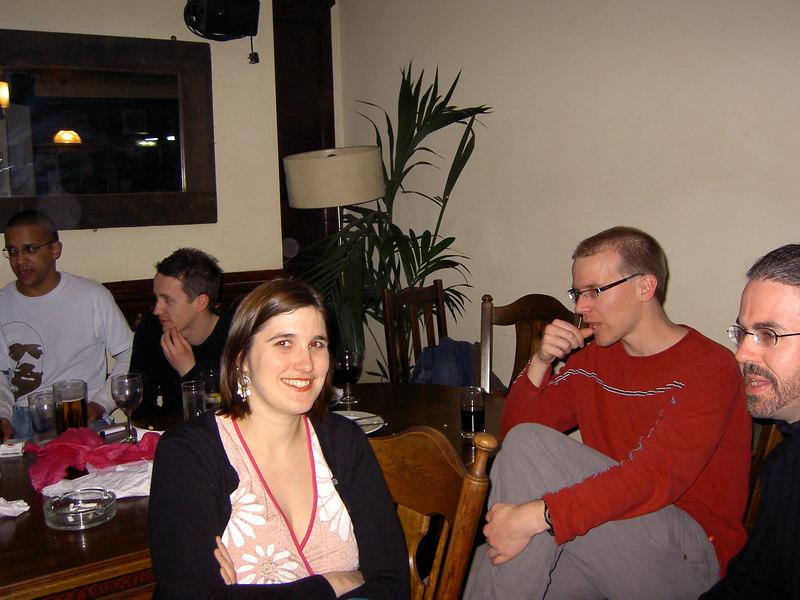 Hannah, Des, Terry: the Kiwi contingent