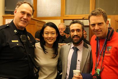 Left to right, Captain John (Joe) Garrity, Jane Kim.