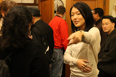 Christina Olague talks with Jane Kim.