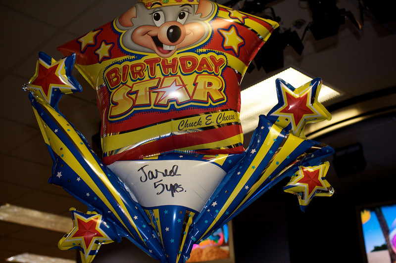 <center>Jared's 5th birthday @ Chuck E Cheese in Eaglerock, CA</center>