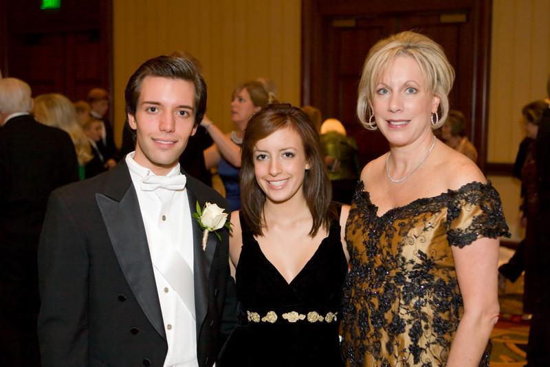 Debbie Novelli Farrell, Jewel Ball Chair,  and her children, Breton Novelli and Marisa Farrell