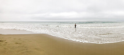 Surf fishing at Morro Bay