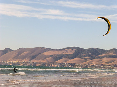 Wind surfer at Oceano Dunes