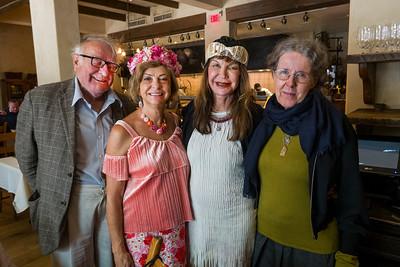(L-R) Peter Eggleton, Ludmila-Kisseleva Eggleton (her birthday), Sheila Ash and Eva Strauss-Rosen