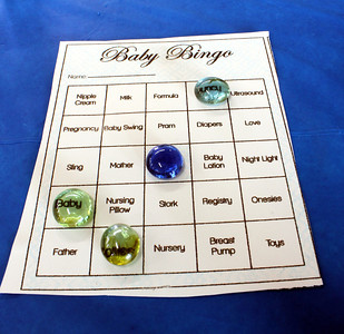 One of the games we played was Baby Bingo