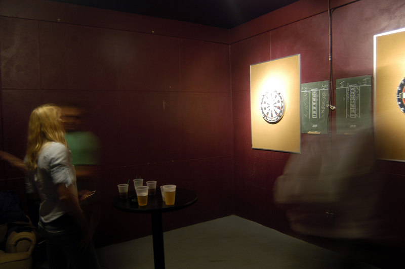 Dart room, two official size dart boards for the league