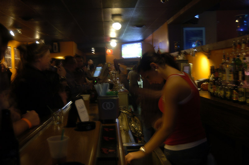 Cool bartenders, great service