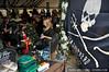 Kim McCoy at Sea Shepherd's booth, LUSH press event