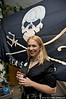Kim McCoy at Sea Shepherd's booth, LUSH press event