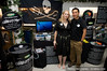 Kim McCoy and Eric Cheng at Sea Shepherd's booth, LUSH press event
