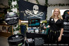Kim McCoy in front of Sea Shepherd's booth at the LUSH press event