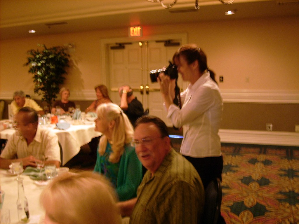 This is Kathy's friend, Theresa.  A really nice person and the official photographer for the party.