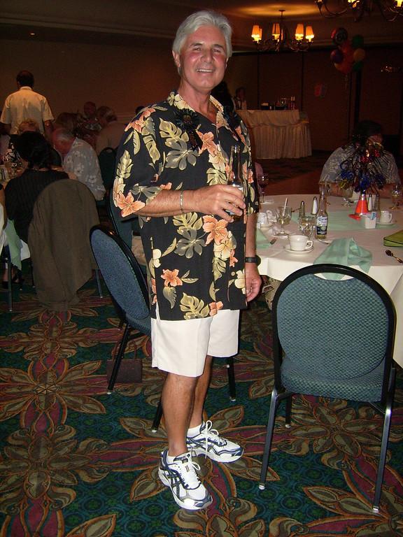 It's the big Kahuna himself.  Lifelong surfer, SoCal native, beach dweller and BIRTHDAY BOY - Larry Ryan, kicking it at 60.