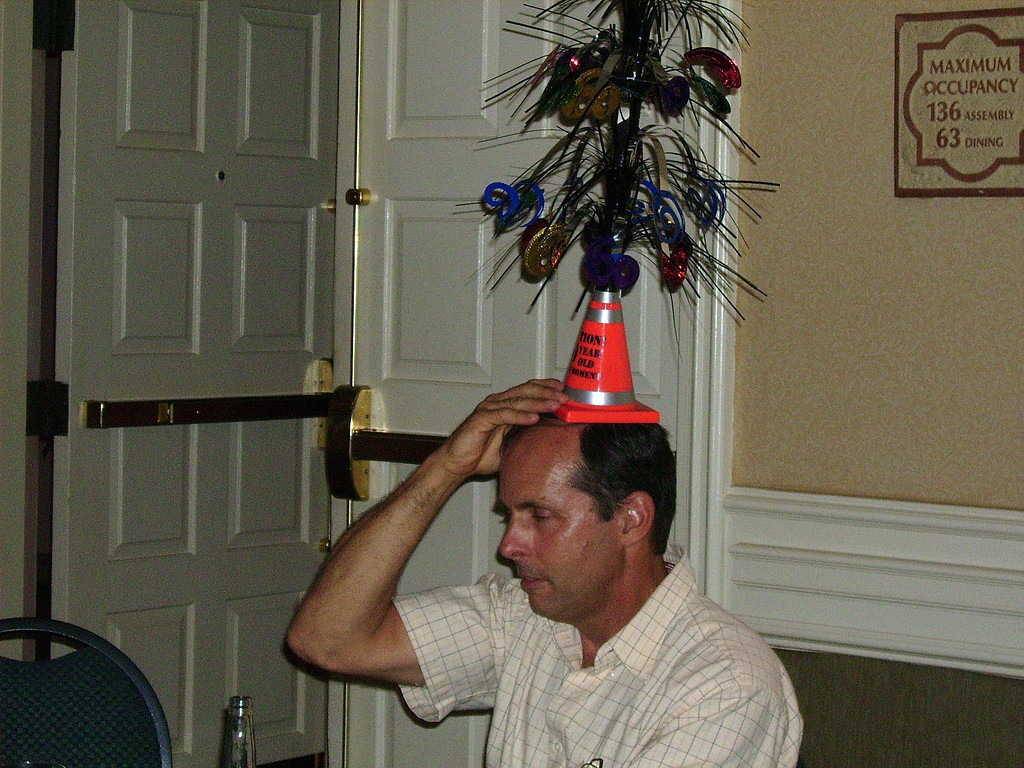...Although some of the folks (Joe) seemed to think they were party hats.  Hmmm, maybe he was right.