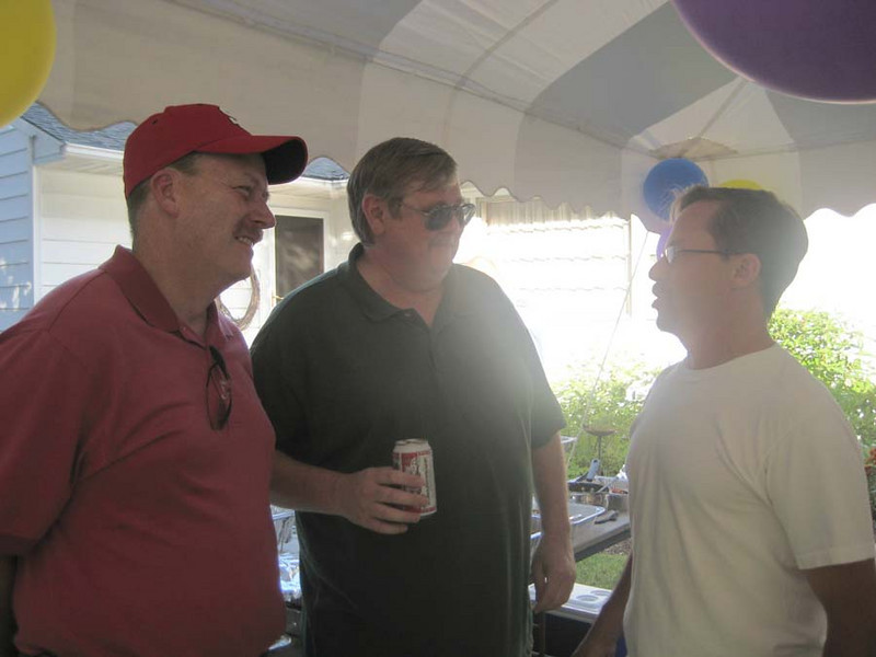BARRY, JOHN AND CLARK THE HOST OF THIS BASH