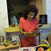 Maggie Mae Church Brown still going through birthday cards from children.