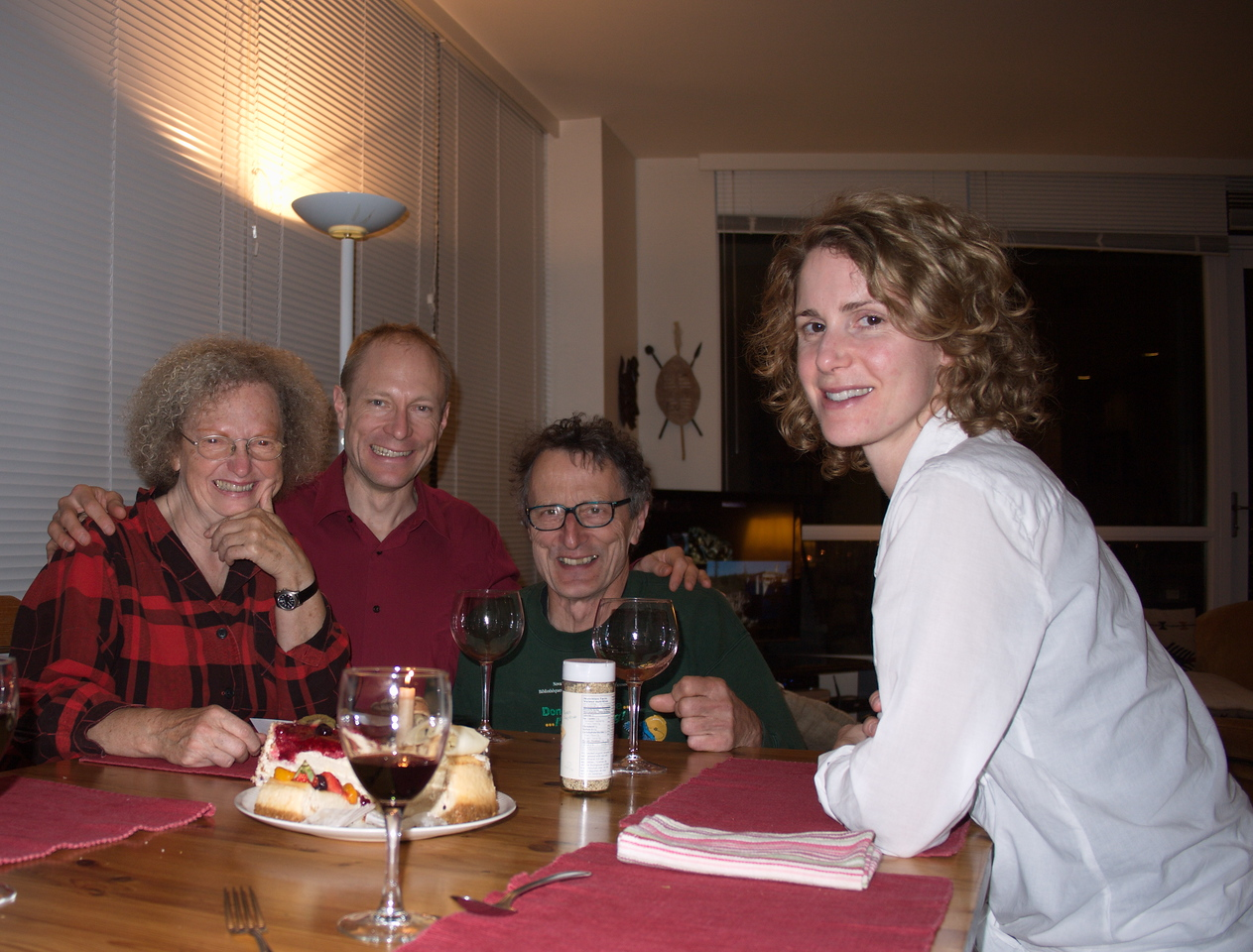 This photo is taken about a month later - for Marion's birthday!