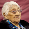 Portait (headshot) of Marguerite Wabano of Moosonee, Ontario at her 105th birthday party.