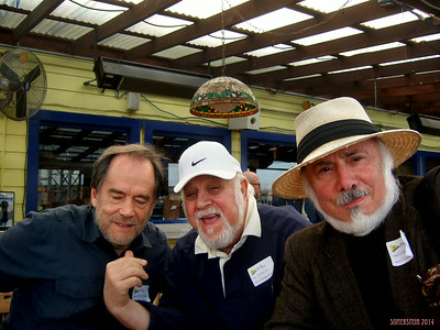 Mark Rennie, left; Robert Altman, center; and Stephen Somerstein on right - Mark Rennie and his friend Michelle's birthday party at Bayview Boat Club