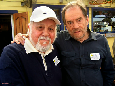 Robert Altman (photographer), left and Mark Rennie (lawyer), right - Mark Rennie and his friend Michelle's birthday party at Bayview Boat Club