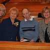 Linda, Mary Jane, JT and Mary Lou getting ready for Mass to begin...then out for a surprise lunch!