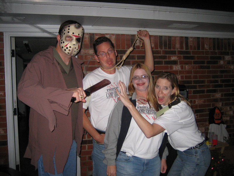 Jason from Friday the 13th (Sean) and his camp Crystal Lake victims