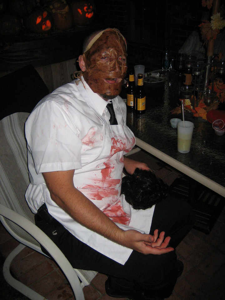 Leatherface takes a load off