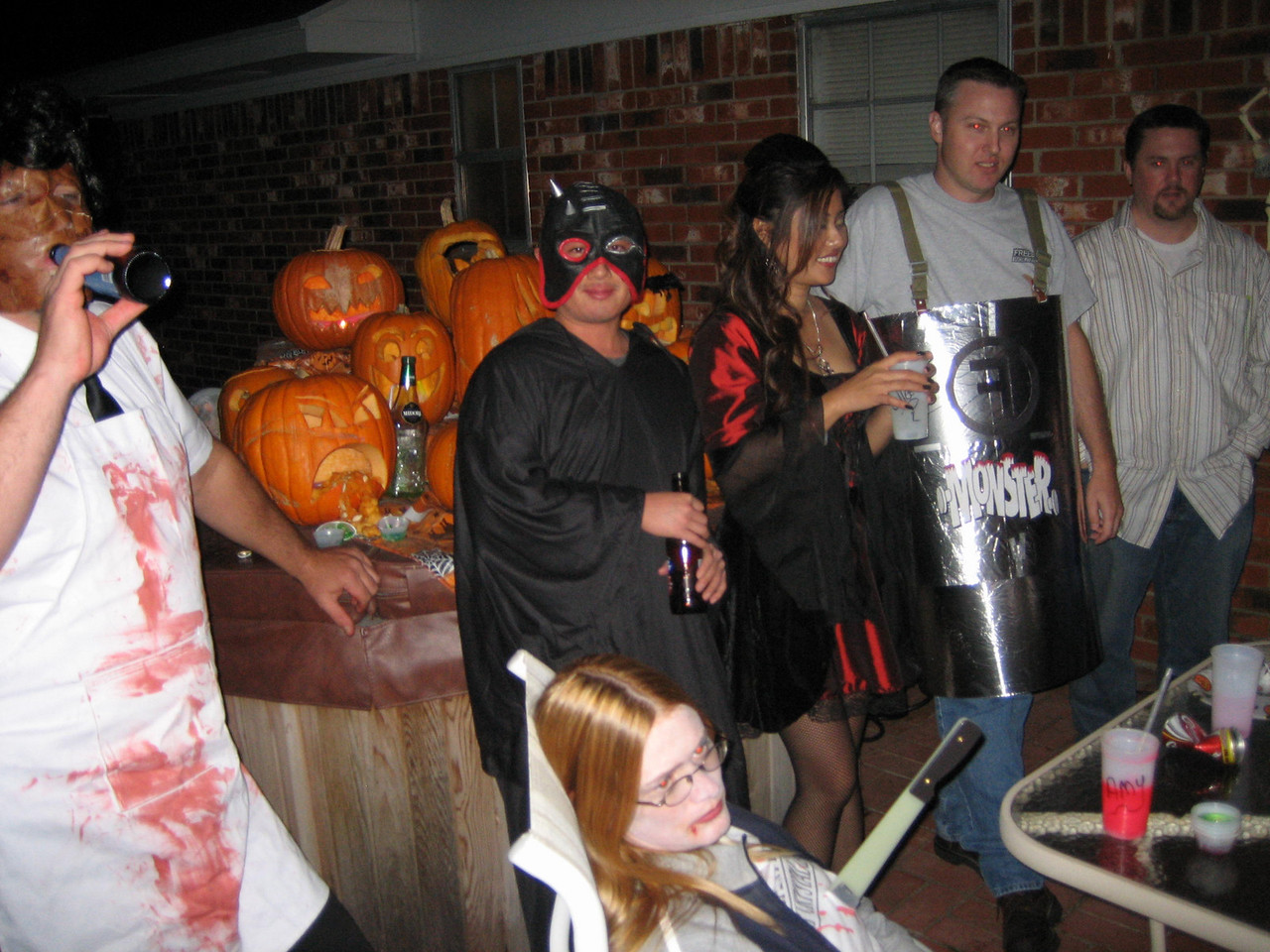 Leatherface, Masked asian (Dean) and Colleen, Duck (Freebirds Monster), and Jeff