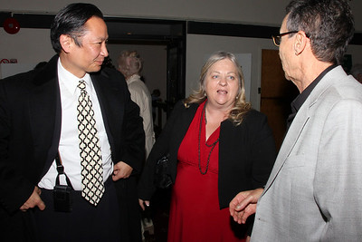 Left, San Francisco Public Defender, Jeff Adachi, , speaking with Assistant Sheriff Michael Marcum, right.