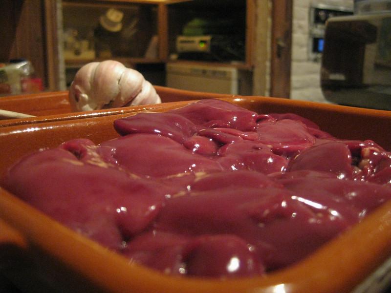 Chicken liver to make a fresh Italian liver paté