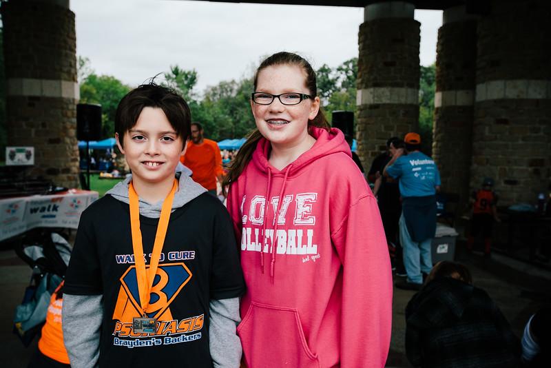 Brayden and Hannah, the 2015 Youth Ambassadors at the NPF Walk at River Legacy Park in Arlington, Texas.