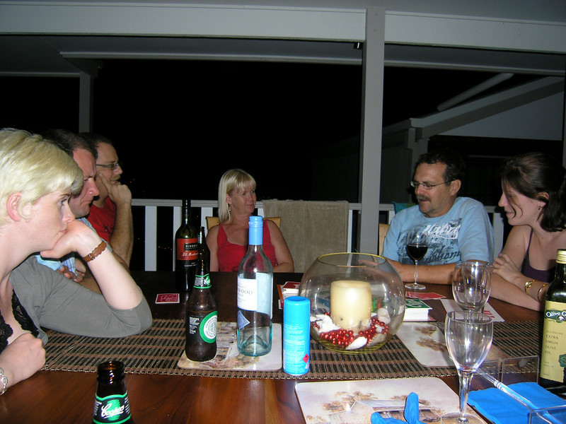 Dinner at Pete and Lynne's place, Sapphire Beach, Coffs Harbour