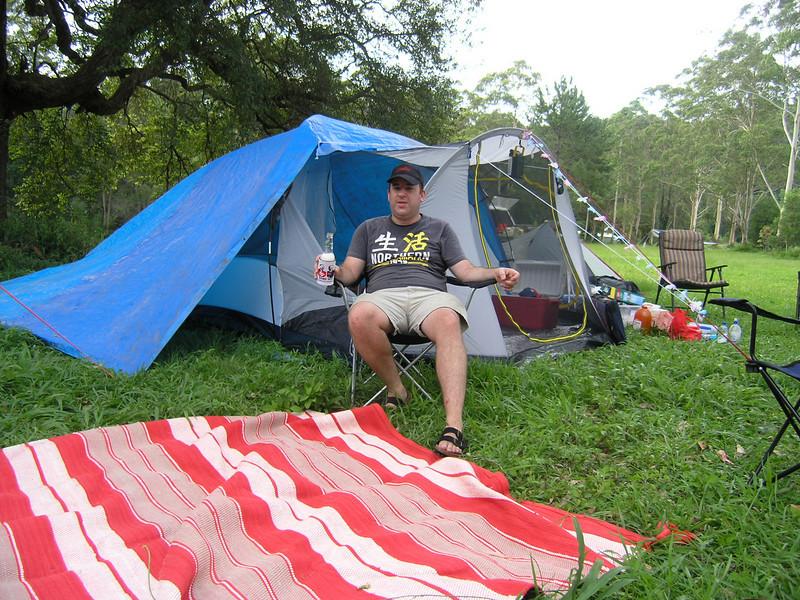 Mark in camp