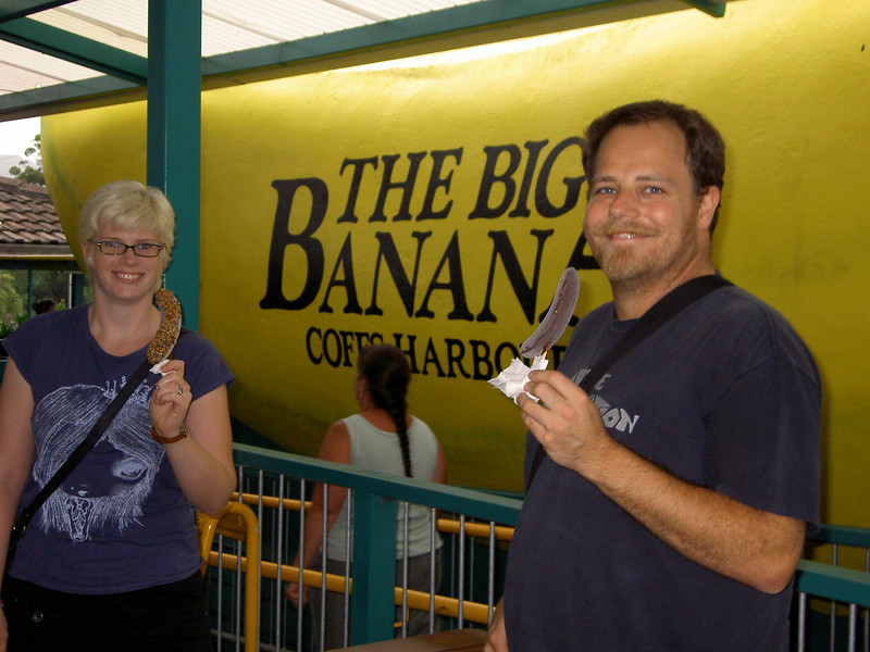 You can't drive through Coffs Harbour without a choc-dipped frozen banana