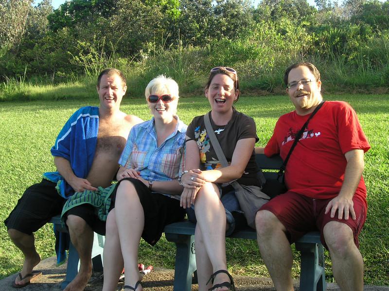 The intrepid crew, Sapphire Beach, Coffs Harbour