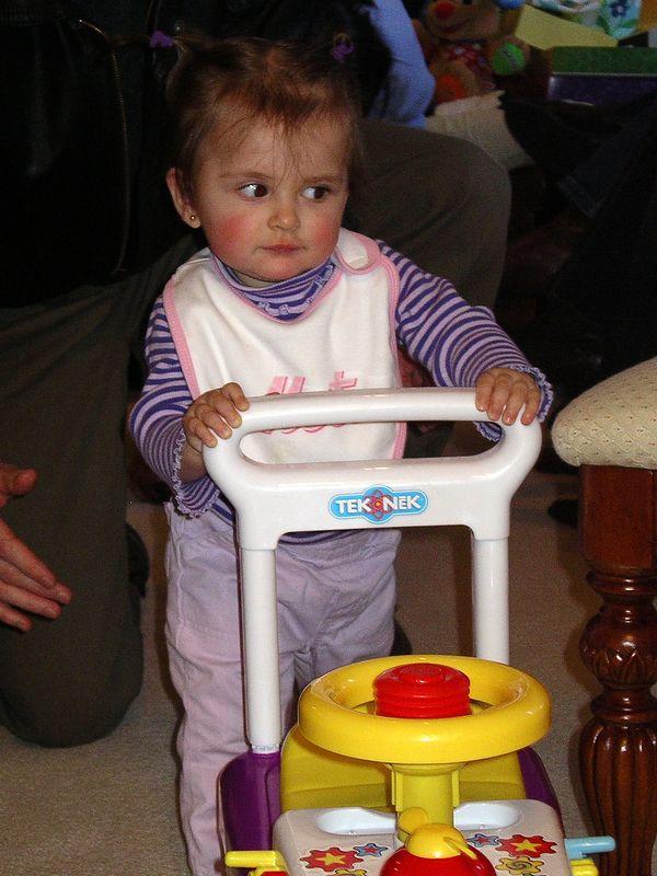 Future Woman Driver in Training!