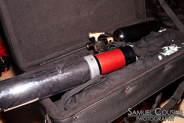 T-shirt cannon. No good can come of this. Coast City ComicCon's Nerd Rave