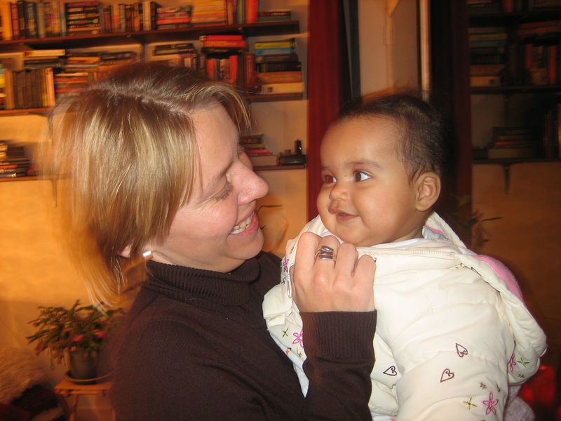 Petula and her baby daughter Anneli