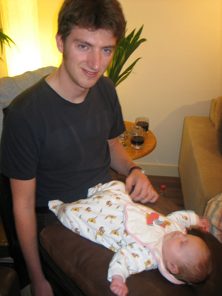 Jeroen and his baby daughter Frederique