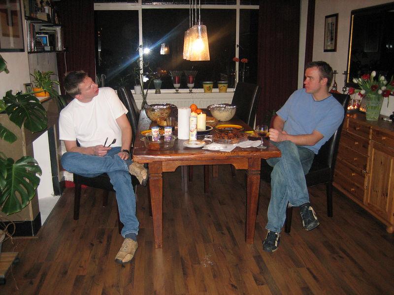 Rob and Sjoerd in the dinigroom