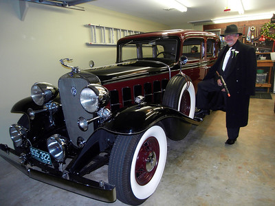 Tony Lentini with 1932 Cadillac