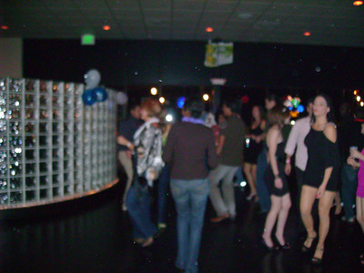 """The dance floor at """"Club"""" Pablo's."""
