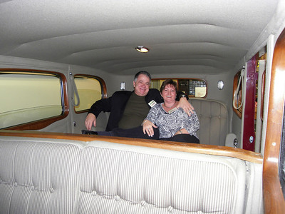 Gordon Wingate and Cheryl in the 1932 Cadillac