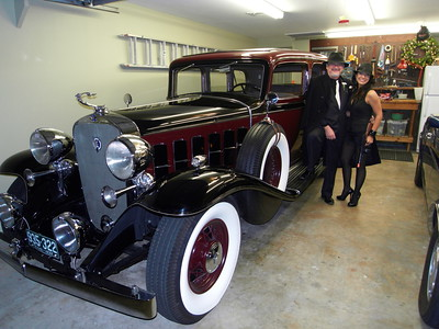 Tony Lentini and Anna with 1932 Cadillac