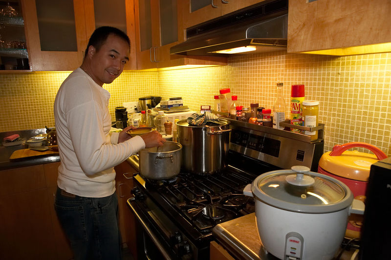 Tony cooks up a feast for the new year