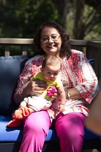 Tina Dadi holding Narayan