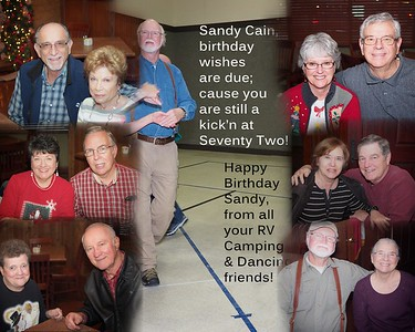 Sandy Cain Turns 72!