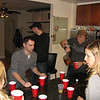 After the first beer pong game FINALLY ended, we got into something more inclusive - Flip Cup!  Boys v. Girls (aka Penises v. Vaginas)