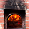 The outdoor pizza oven where the the personal pizzas were baked to perfection!