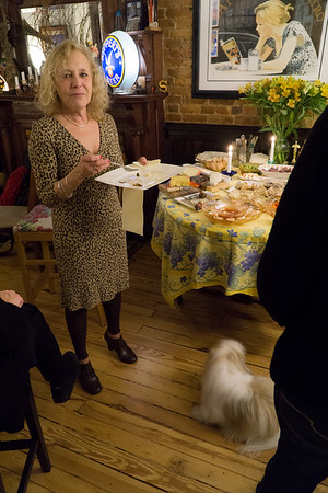 The hostess (and her dog).